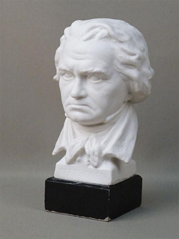 Бюст «Бетховен», бисквит, высота 19,5см