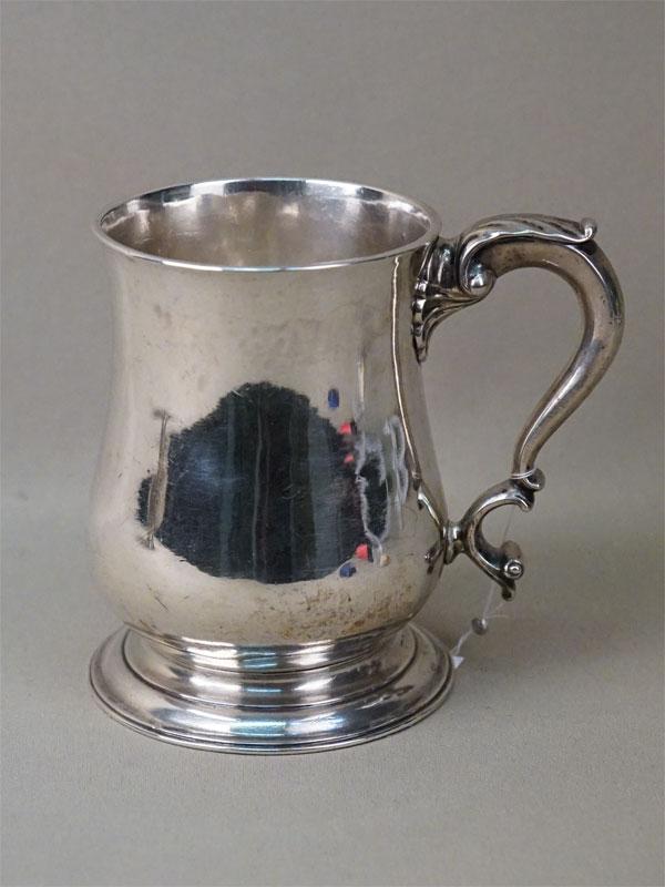 Кружка, серебро по реактиву, общий вес 369,9г., высота 11,5см
