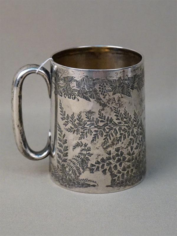 Кружка, серебро по реактиву, общий вес 144,5г., высота 8,5см