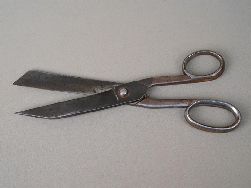 Ножницы портновские, сталь, фирма «Кондратов», 1882-1896 год, длина 32см