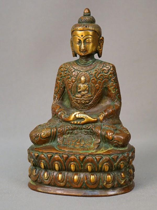 Скульптура «Будда», медь, литье, XX век, Монголия, высота 15см