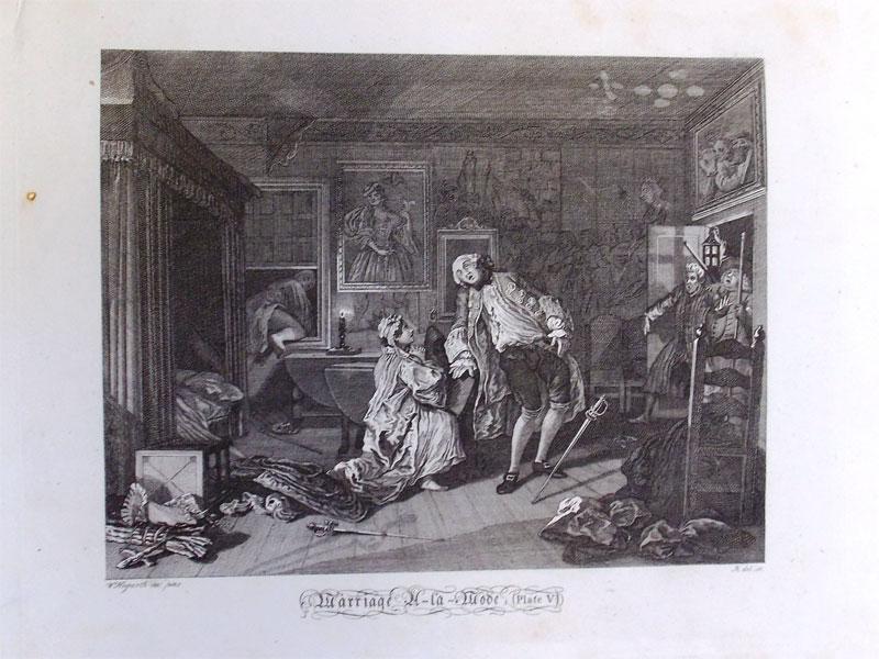 Гравюра «Модный брак» (Plate III from Marriage A-La-Mode. Plate V). Рисунок Уильяма Хогарта, грав. Р., ок. 1810,  23 × 28 см.