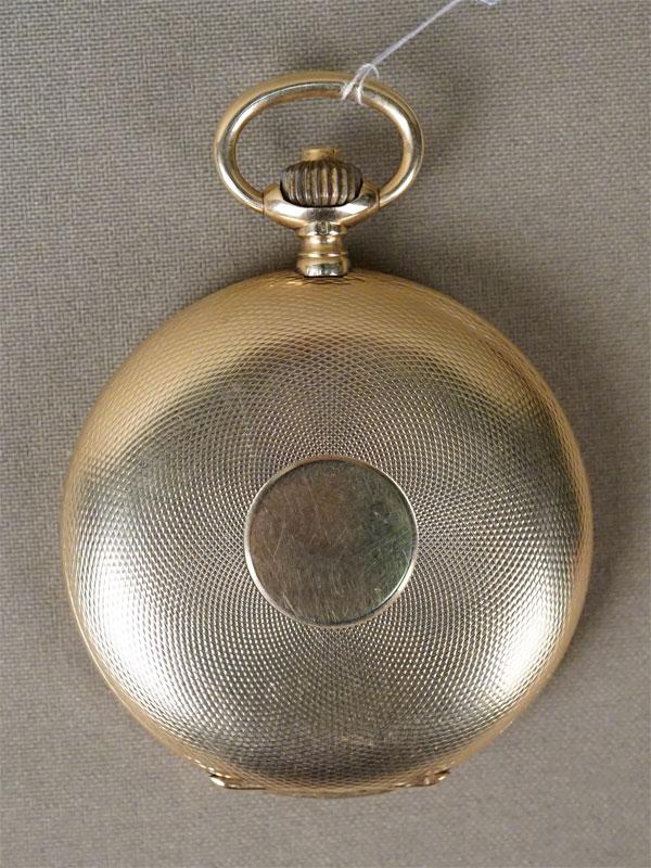 Часы карманные 3-х крышечные Longines, золото 56 пробы (14К), общий вес 107,92г.