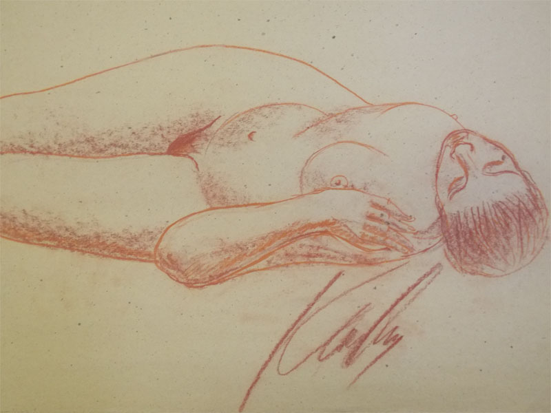 Костромина, В. Г. Ню №14, бумага, уголь, 60 × 41 см, 1985 год.