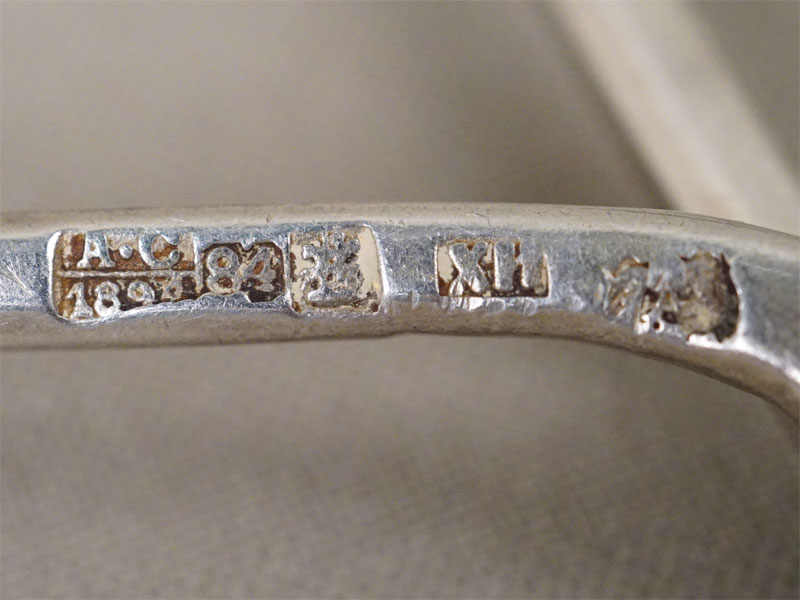 Чайные ложки (9 шт.), серебро 84 пробы, общий вес 275,6г. Москва, 1894 год
