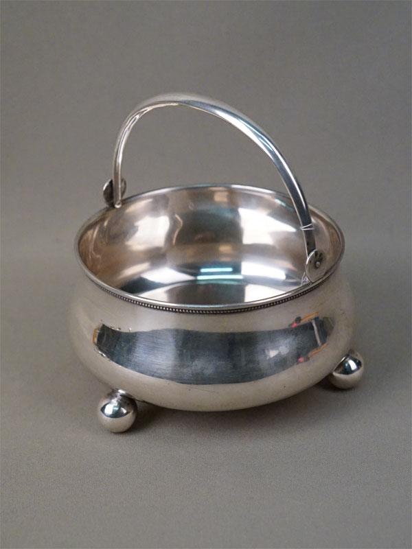Конфетница, серебро 84 пробы, общий вес 237г., диаметр 11,5см