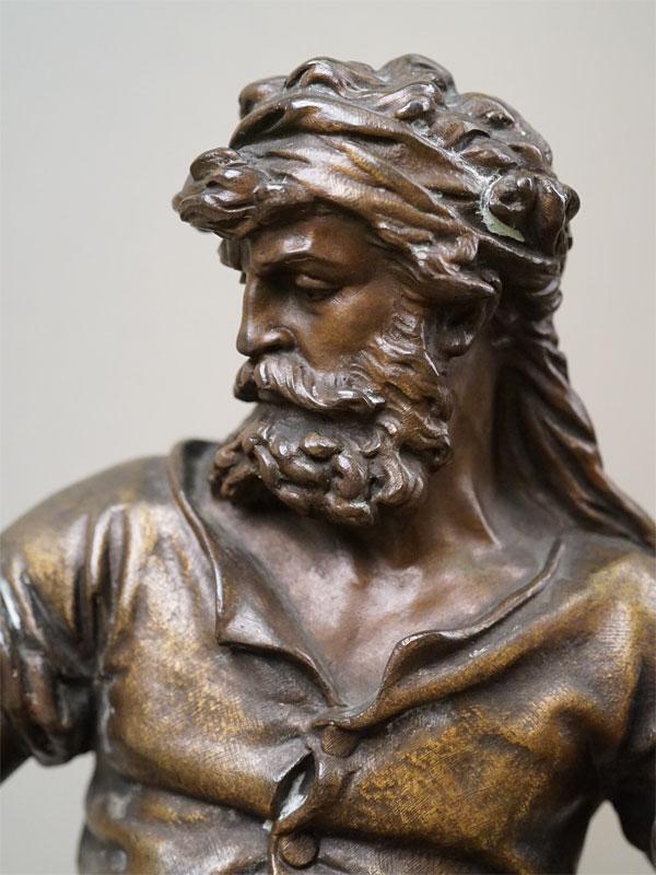 Скульптура «Le Travail» («Кузнец. Труд»), бронза, литье, патинирование. Франция, конец XIX века, высота 33см