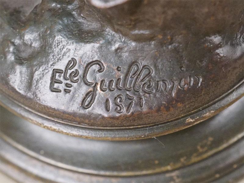 Пара скульптур «Солдат» и «Моряк», бронза, серебрение. Франция, автор Гиймен, 1871 год, высота 24см