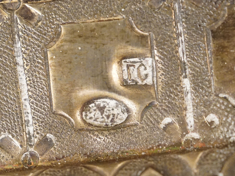 Икона «Пресвятая Богородица Нечаянная Радость», дерево, темпера, оклад серебро 84 пробы, эмаль, XIX век, 31 × 27см