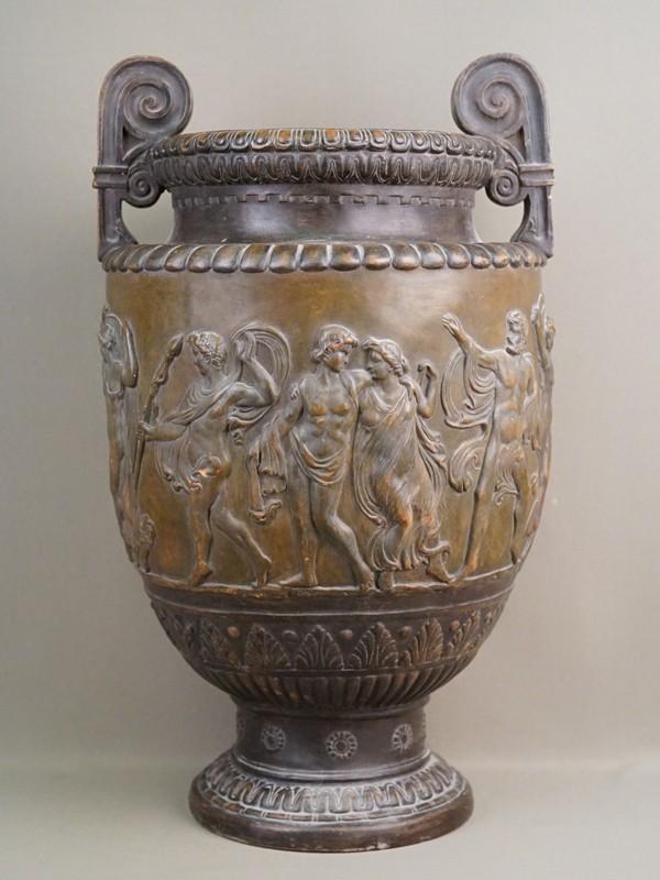 Ваза декоративная «Сцены из древнегреческих мифов», терракота, высота 51см