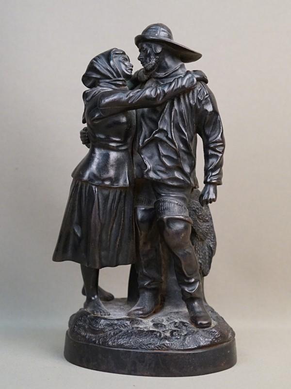 Скульптура «Прощание моряка», чугун, литье, покраска. Касли, 1880-1890-е годы, формовщик Ф.Быков, высота 25см