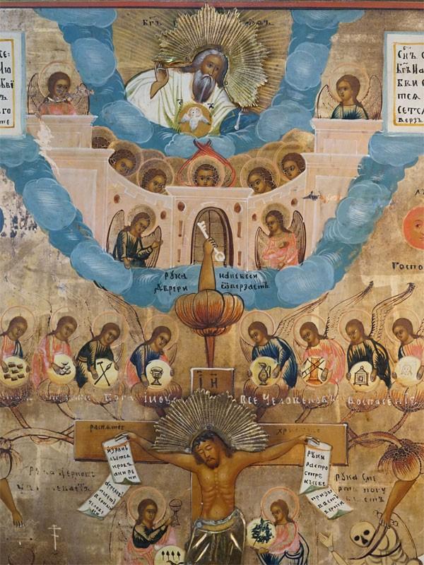 Икона «Древо Жизни Иисуса Христа», дерево, левкас, темпера, XIX век, 74 × 53,5см