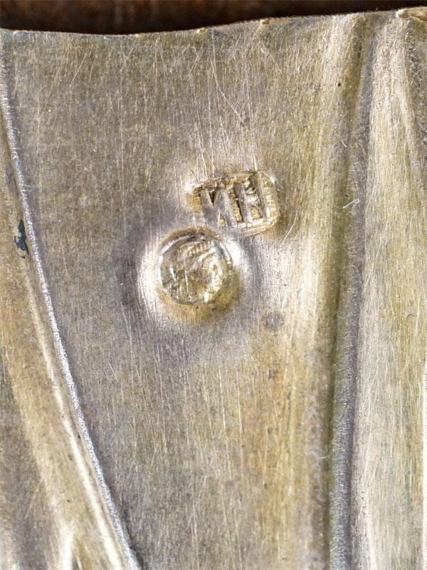 Икона в киоте «Господь Вседержитель», дерево, масло, 18 × 14,5см. Оклад серебро 84 пробы, золочение, гравировка, канфарение, гильоширование, травление, золочение; накладная рубашка; венец: филигрань, перегородчатая эмаль, конец XIX века