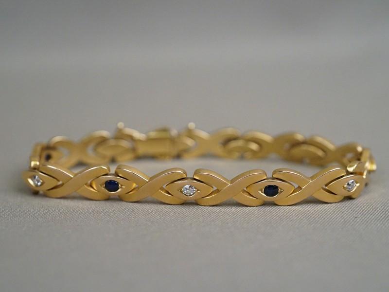 Браслет, золото 56 пробы, общий вес 40,34г., длина 19см