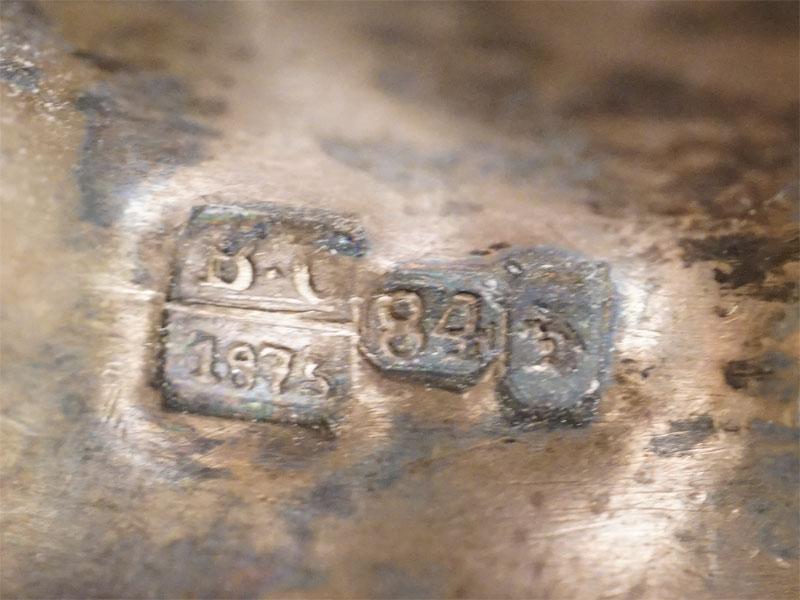 Лампада, серебро 84 пробы, общий вес 103,82г., 1875 год