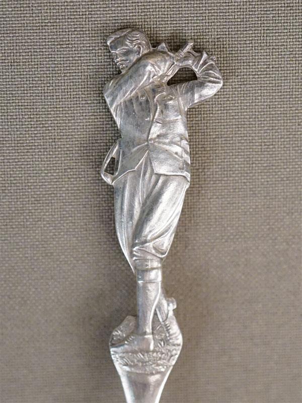 Чайная ложка «Гольф», серебро по реактиву, общий вес 20,24г. Англия, начало XX века