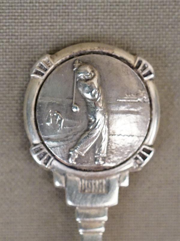 Чайная ложка «Гольф», серебро по реактиву, общий вес 21,58г. Англия, начало XX века