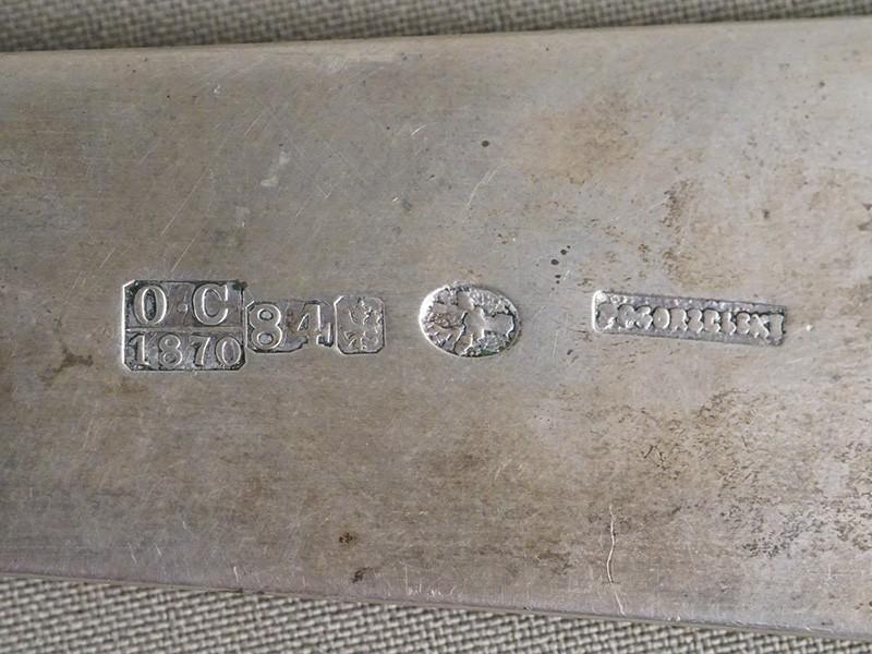 Половник, серебро 84 пробы, общий вес 262г., 1870 год