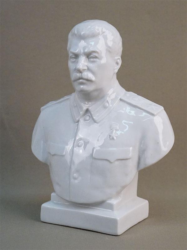 Бюст «И.В. Сталин», фарфор. ЛФЗ, 1940-50-е годы, высота 20см