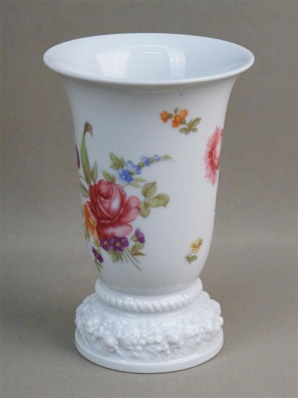 Вазочка для цветов, фарфор, деколь. Германия, Rosenthal, высота 14,5см, середина XX века