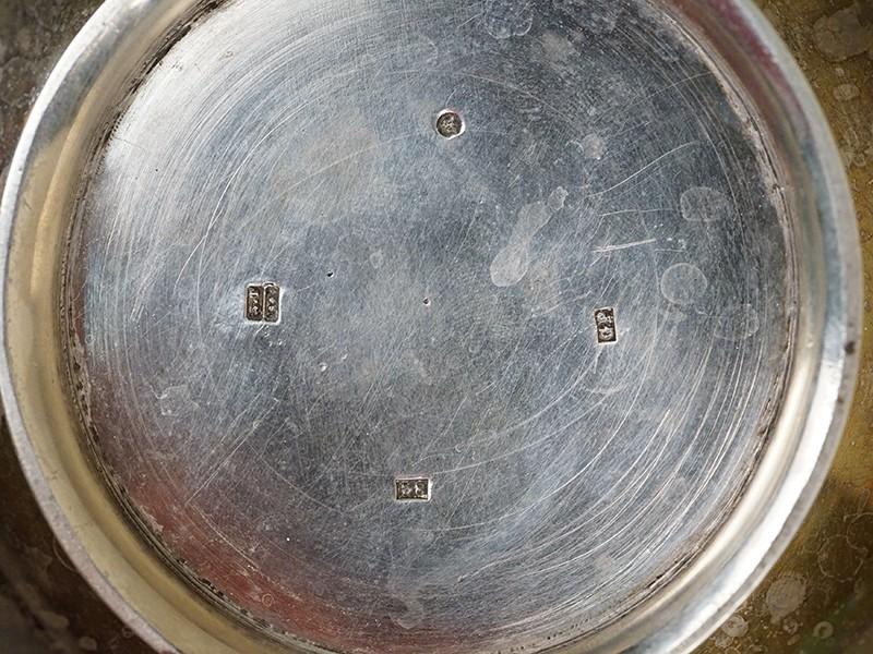 Чайник заварочный, серебро 84 пробы, 1840-е годы. Общий вес 510г.