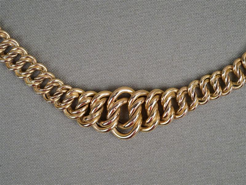 Колье, золото по реактиву, общий вес 15,86г., длина 45см