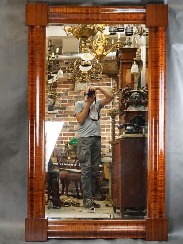 Зеркало в стиле неоклассизм, красное дерево, XIX век, размер — 168 × 100см