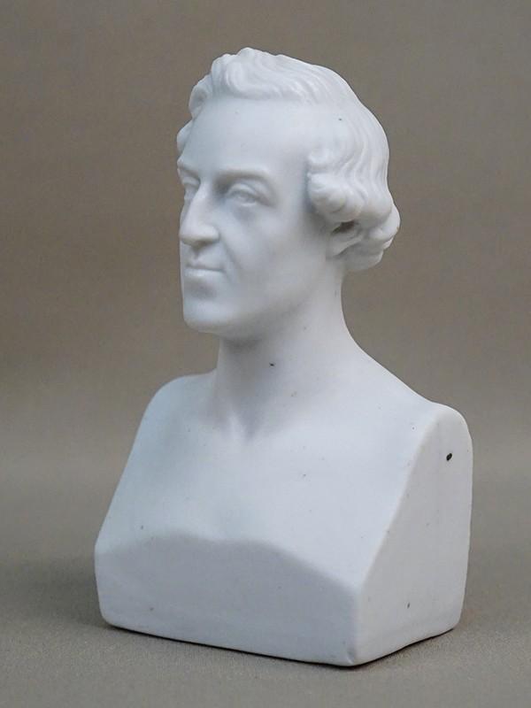 Бюст «Giacomo Meyerbeer», бисквит. Западная Европа, начало XX века, высота 11,5см