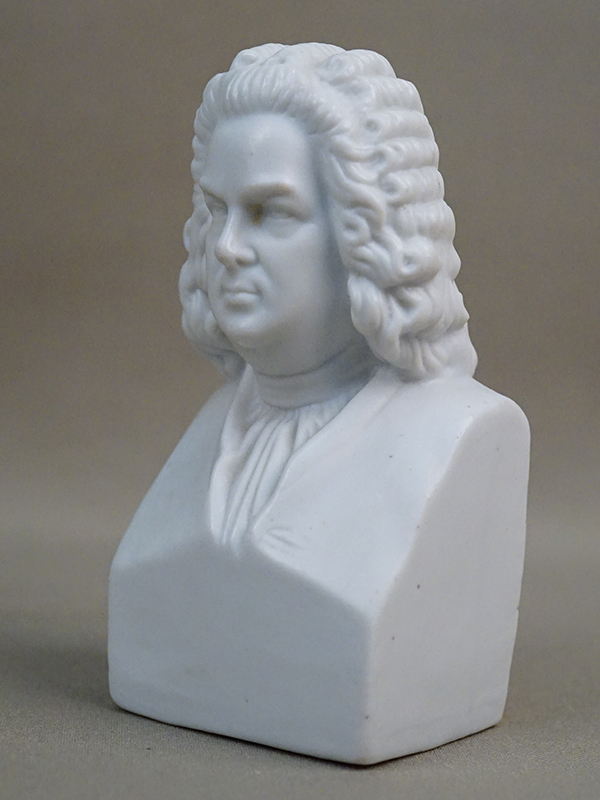 Бюст «I.S. Bach», бисквит. Западная Европа, начало XX века, высота 11,5см