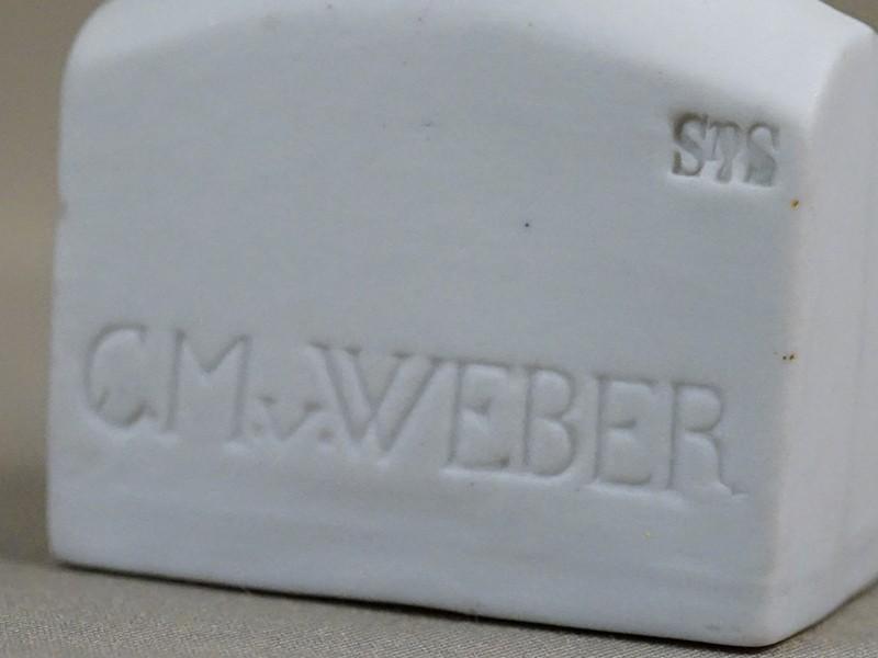 Бюст «C. M. Weber», бисквит. Западная Европа, начало XX века, высота 12см