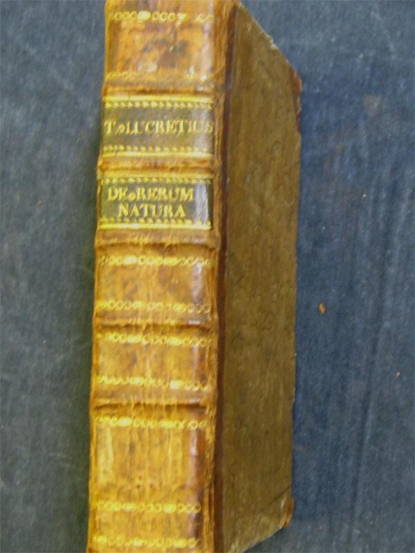 Лукреций. О природе вещей /Lucretius Carus Titus De rerum natura libri sex. – Лейпциг, 1776.  Полукожа того времени.